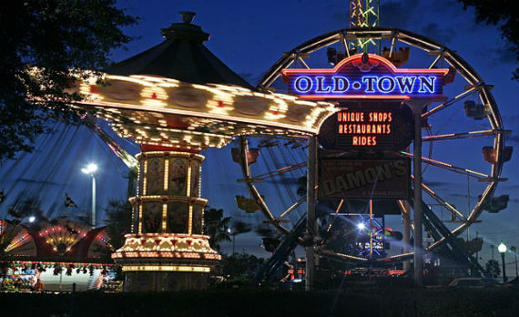 Old Town Ping Dining And Entertainment Attraction Kissimmee The Rodeway Inn Maingate Fl Hotel